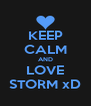 KEEP CALM AND LOVE STORM xD - Personalised Poster A4 size