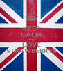 KEEP CALM AND LOVE STRAWBERRYS - Personalised Poster A4 size