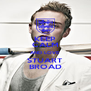 KEEP CALM AND LOVE STUART BROAD - Personalised Poster A4 size