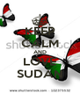 KEEP CALM AND LOVE SUDAN - Personalised Poster A4 size
