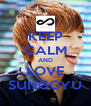 KEEP CALM AND LOVE SUNGGYU - Personalised Poster A4 size
