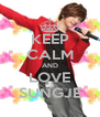 KEEP CALM AND LOVE SUNGJE - Personalised Poster A4 size