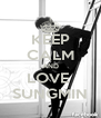 KEEP CALM AND LOVE  SUNGMIN - Personalised Poster A4 size
