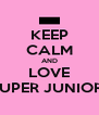 KEEP CALM AND LOVE SUPER JUNIOR! - Personalised Poster A4 size