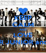 KEEP CALM AND LOVE SUPER JUNIOR and EXO - Personalised Poster A4 size