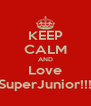 KEEP CALM AND Love SuperJunior!!! - Personalised Poster A4 size
