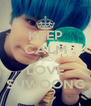 KEEP CALM AND LOVE SUWOONG - Personalised Poster A4 size