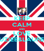 KEEP CALM AND LOVE SUZIEE&LAUREN - Personalised Poster A4 size