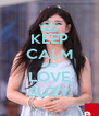 KEEP CALM AND LOVE SUZY - Personalised Poster A4 size
