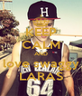 KEEP CALM AND love swaggy LARAS - Personalised Poster A4 size