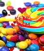 KEEP CALM AND LOVE  SWEETS - Personalised Poster A4 size