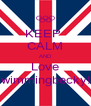 KEEP  CALM AND Love Swimmingbecky!!! - Personalised Poster A4 size