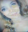 KEEP CALM AND LOVE Sybil - Personalised Poster A4 size