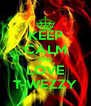 KEEP CALM AND LOVE T-WEZZY - Personalised Poster A4 size