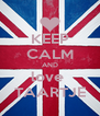 KEEP CALM AND love  TAARTJE - Personalised Poster A4 size