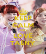 KEEP CALM AND LOVE TAENY - Personalised Poster A4 size