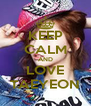 KEEP CALM AND LOVE TAEYEON - Personalised Poster A4 size
