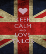 KEEP CALM AND LOVE TAILOR - Personalised Poster A4 size