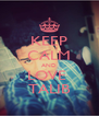 KEEP CALM AND LOVE  TALIB - Personalised Poster A4 size