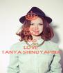KEEP CALM AND LOVE  TANYA SHINDYAPINA - Personalised Poster A4 size