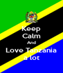 Keep Calm And Love Tanzania a lot - Personalised Poster A4 size