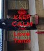 KEEP CALM AND Love Tanzi - Personalised Poster A4 size