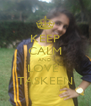 KEEP CALM AND LOVE  TASKEEN - Personalised Poster A4 size
