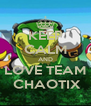 KEEP CALM AND LOVE TEAM  CHAOTIX - Personalised Poster A4 size
