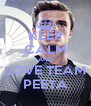 KEEP CALM AND LOVE TEAM PEETA - Personalised Poster A4 size