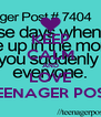 KEEP CALM AND LOVE TEENAGER POST - Personalised Poster A4 size