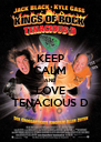 KEEP CALM AND LOVE TENACIOUS D - Personalised Poster A4 size