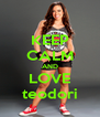 KEEP CALM AND LOVE teodori - Personalised Poster A4 size
