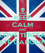 KEEP CALM AND LOVE TERESA HATE CAROLINA - Personalised Poster A4 size