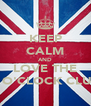 KEEP CALM AND LOVE THE 4 O'CLOCK CLUB - Personalised Poster A4 size