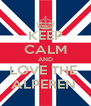 KEEP CALM AND LOVE THE  ALPEREN  - Personalised Poster A4 size
