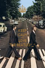 KEEP CALM AND LOVE THE BEATLES^_^ - Personalised Poster A4 size