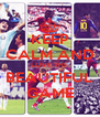 KEEP CALM AND LOVE THE BEAUTIFUL GAME - Personalised Poster A4 size