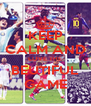 KEEP CALM AND LOVE THE BEUTIFUL GAME - Personalised Poster A4 size