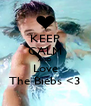 KEEP CALM AND Love The Biebs <3 - Personalised Poster A4 size