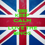 KEEP CALM AND LOVE THE BINOS - Personalised Poster A4 size