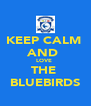 KEEP CALM  AND  LOVE  THE  BLUEBIRDS - Personalised Poster A4 size