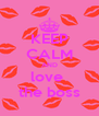 KEEP CALM AND love  the boss - Personalised Poster A4 size