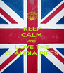 KEEP CALM AND LOVE THE CLÁUDIA PIRES - Personalised Poster A4 size
