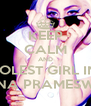KEEP CALM AND LOVE THE COOLEST GIRL IN THE WORLD GHINA PRAMESWARI - Personalised Poster A4 size