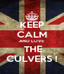 KEEP CALM AND LOVE  THE CULVERS ! - Personalised Poster A4 size