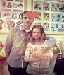 KEEP CALM AND love the guy  his girlfriend - Personalised Poster A4 size