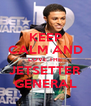 KEEP CALM AND LOVE THE JETSETTER GENERAL - Personalised Poster A4 size