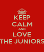 KEEP CALM AND LOVE THE JUNIORS - Personalised Poster A4 size