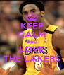 KEEP CALM AND LOVE THE LAKERS - Personalised Poster A4 size