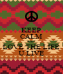 KEEP CALM AND LOVE THE LIFE U LIVE - Personalised Poster A4 size